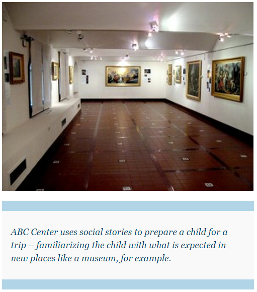 ABC Center uses social stories to prepare a child